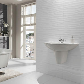 Flow Blanco Brillo Gloss Tile 600x300mm Wall Tiles Ctd
