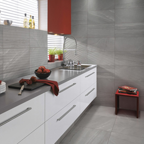 British Stone Grey Matt Tile - 600x300mm