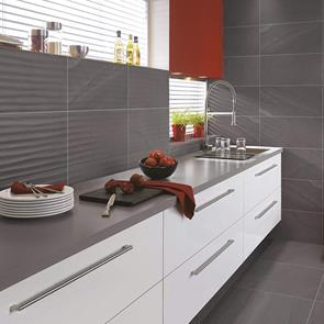 British Stone Antracite Matt Wave Tile - 600x300mm