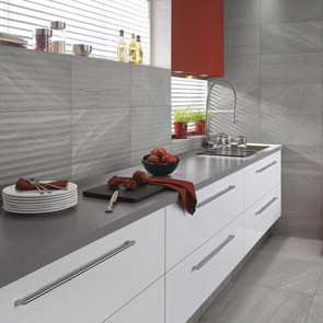 British Stone Grey Matt Wave Tile - 600x300mm