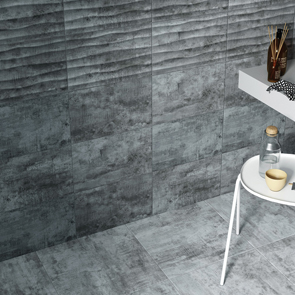 Cosy Grey Décor Matt Tile - 400x250mm