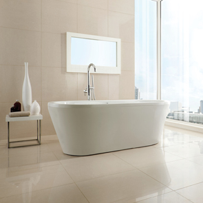 Niro Cream Polished Porcelain Tile - 600x600mm