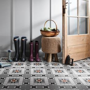 Victorian Heritage Kendal Grey Tile 316x316mm Victorian