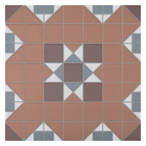 Victorian Heritage York Terracotta Tile - 316x316mm