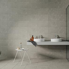 Quarz Light Grey Tile - 400x250mm