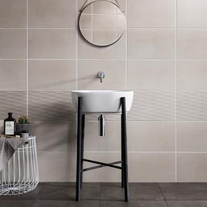 Cement Tech Mini White Décor Tile - 400x250mm