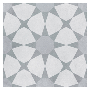 Cuban Silver Star Tile 223x223mm Glazed Porcelain Ctd