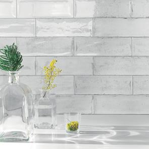 Arles Snow Gloss Tile - 300x100mm