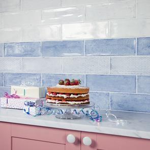 Arles Snow Décor Mix Gloss Tile - 300x100mm