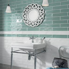 Poitiers Mint Green Gloss Tile - 300x75mm