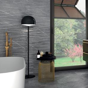 Kingston Graphite Brillo Tile - 600x300mm