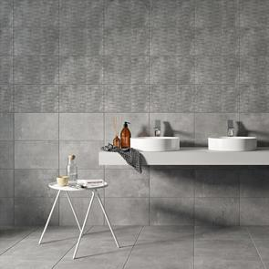 Cairn 2 Smoke Grey Décor Tile - 400x250mm