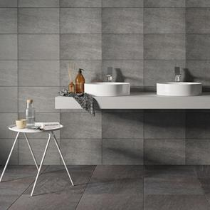 Fairford Dark Grey Tile - 450x450mm