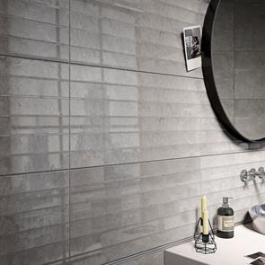 Stow 2 Mink Shutter Decor Glossy Tile - 600x300mm