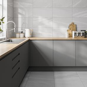 Pescara Mid Grey Gloss Tile - 600x300mm