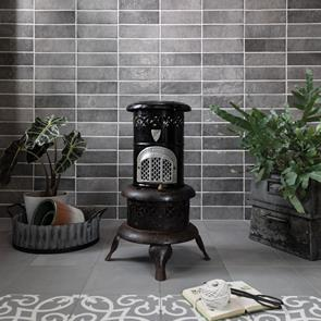 Dyroy Grey Tile - 200x65mm