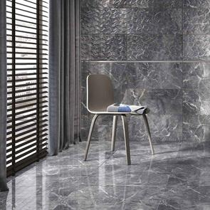 Nebula Grey Gloss Wall Tile - 900x300mm