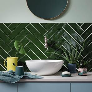 Poitiers Green Gloss Tile - 300x75mm