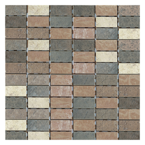 Scala Brown/Beige Mosaic Tile - 25x50mm (Sheet 300x300mm)