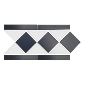 Victorian Octagon Melbourne Border 1 Strip Tile - 280x151mm