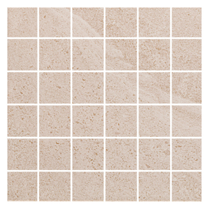 British Stone Mosaic Beige Matt Tile - 50x50mm (Sheet 300x300mm)