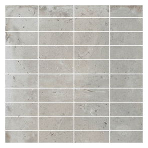 District Soft Grey Mosaic Tile - 70x25mm (Sheet 300x300mm)