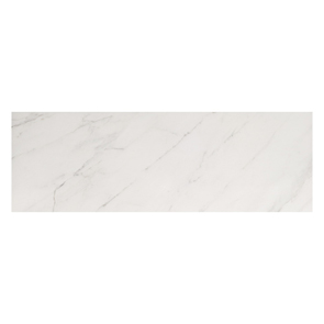 Classic white marble effect tile 690x240mm gloss on bathroom wall