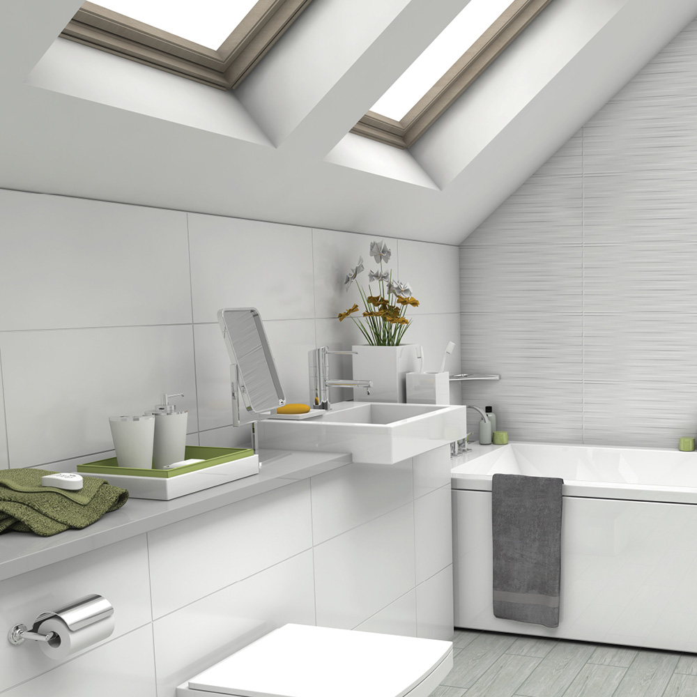 Johnson Tiles White Collection Arctic White Tile | Bathroom Tiles