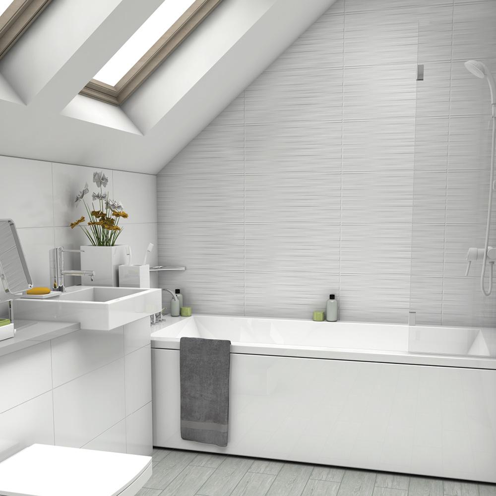 Johnson Tiles White Collection Satin Alabaster   Wall Tiles   Gemini