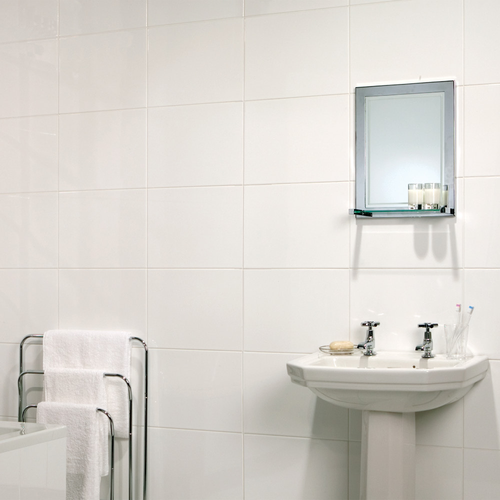 Tundra White Gloss Tile 360x275mm - White Wall Tiles - CTD Tiles