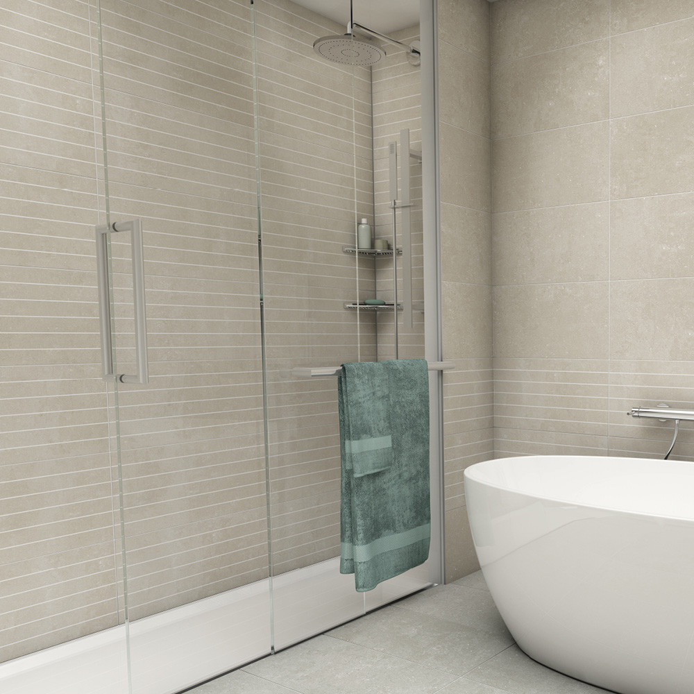 York Stone Scored Matt Tile 600x300mm - Wall Tiles - CTD Tiles