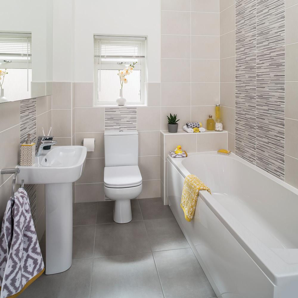 City Touchstone Grey Linear Matt 360x275mm - Wall Tiles - CTD Tiles