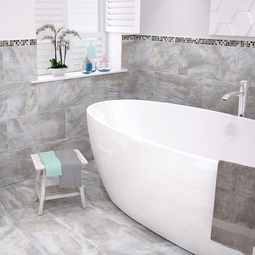 Stoneware Flint Silk Tile 600x300mm - Wall Tiles - CTD Tiles