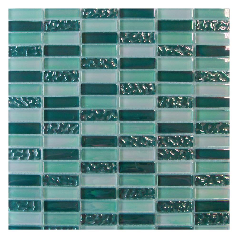 Gemini Mosaics Elements Forest Glass 48x15mm Wall Tiles