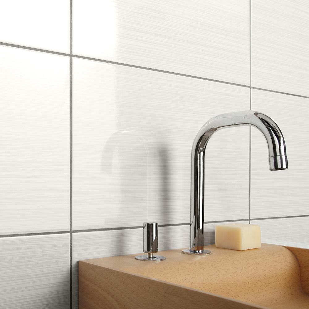 Allure White Gloss Tile 400x250mm - Wall Tiles - CTD Tiles