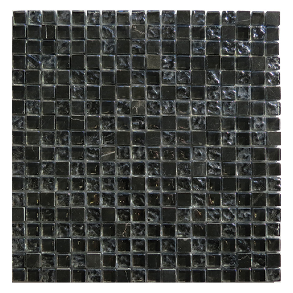Gemini Mosaics Antracite Mix Glass Amp Stone 15x15mm Ctd Tiles