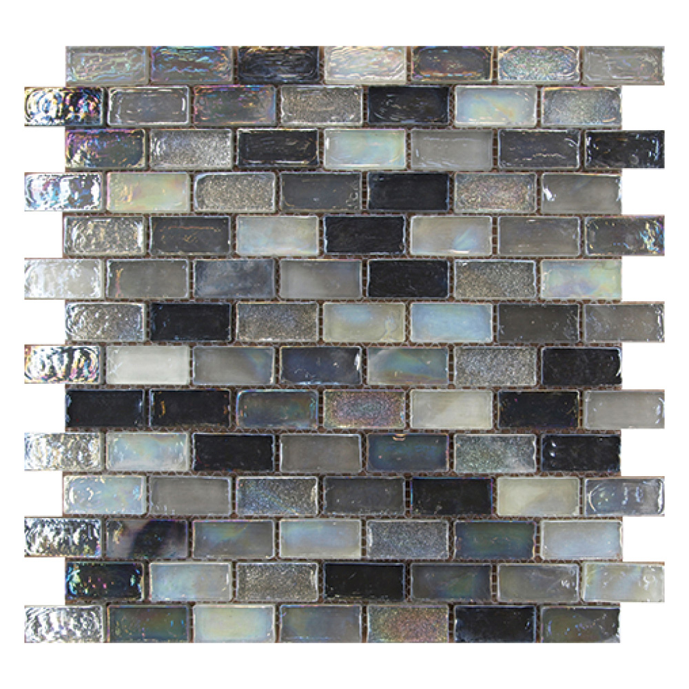 Mosaic Tile Apartment Ideas: Gemini Mosaics Hammered Silver 20x42mm