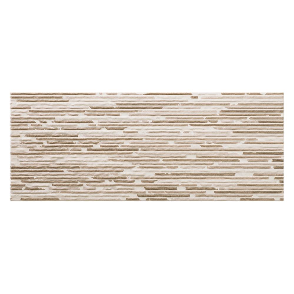 Groove Mocha Split Decor Tile 500x200mm Wall Tiles Ctd