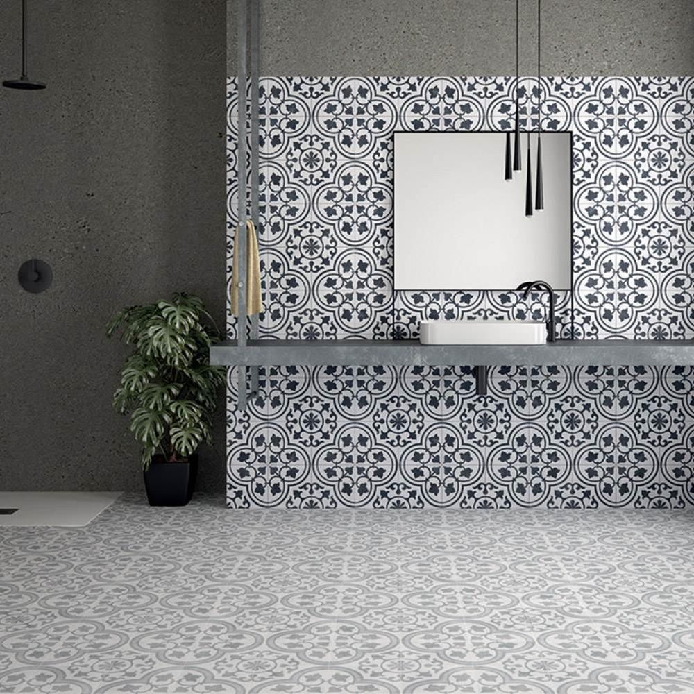 Cuban Grey Ornate Tile From Gemini Tiles For My Homey In 2018
