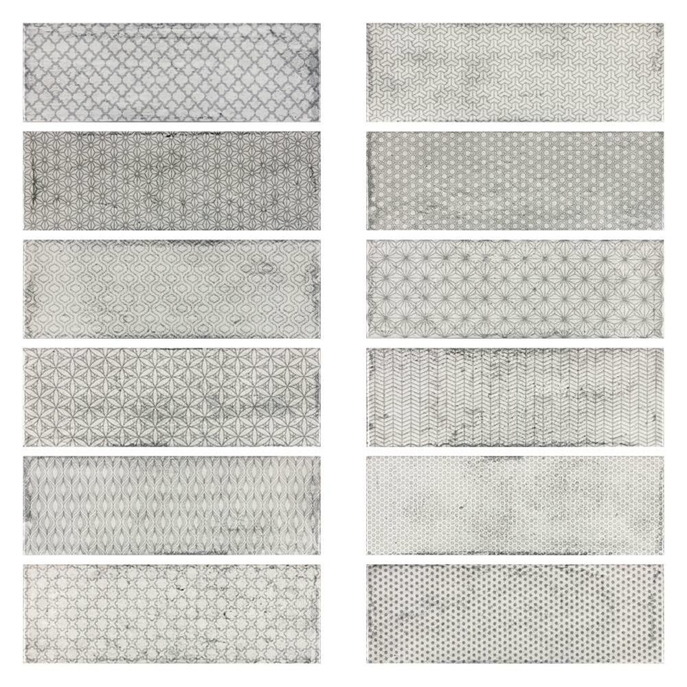 Arles Silver Decor Mix Gloss Ceramic Wall Tile By Gemini From Ctd Tiles
