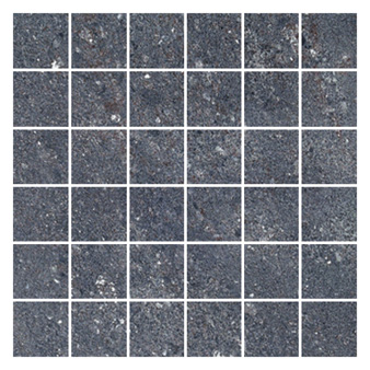Hillock Dark Grey Mosaic Tile 50x50mm - Floor & Wall Tiles - CTD Tiles