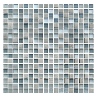 Gemini Mosaics Washington Glass Stone 15x15mm Wall Tiles