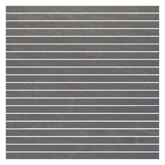 Pietra Pienza Dark Grey Matt Mosaic Tile - 300x15mm (Sheet 300x300mm)