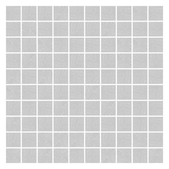 Pietra Pienza Light Grey Mosaic Tile - 30x30mm (Sheet 300x300mm)