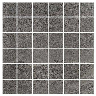 British Stone Mosaic Anthracite Matt Tile - 50x50mm (Sheet 300x300mm)