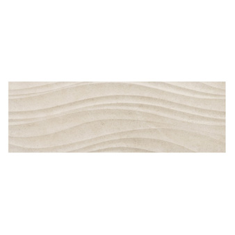 Studio Grey Limestone Wave Décor Tile - 900x300mm