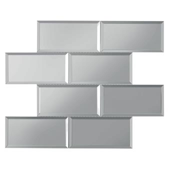Lumiere Bevel Mirror Brick Mosaic 75x150mm