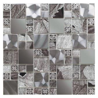 Saturn Silver Glass/Metal Mix Modular Mosaic