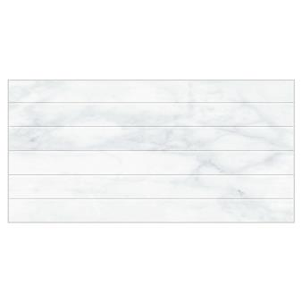 Snow Calacatta Shutter Decor Gloss Tile - 600x300mm