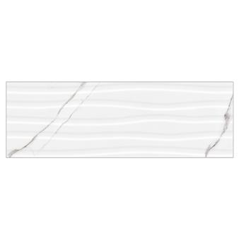 B&W Star White Decor Gloss Wall Tile - 900x300mm